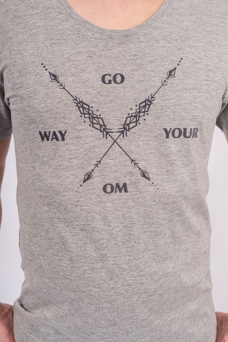 "Shirt ""Arrow Warrior"", men - grey"