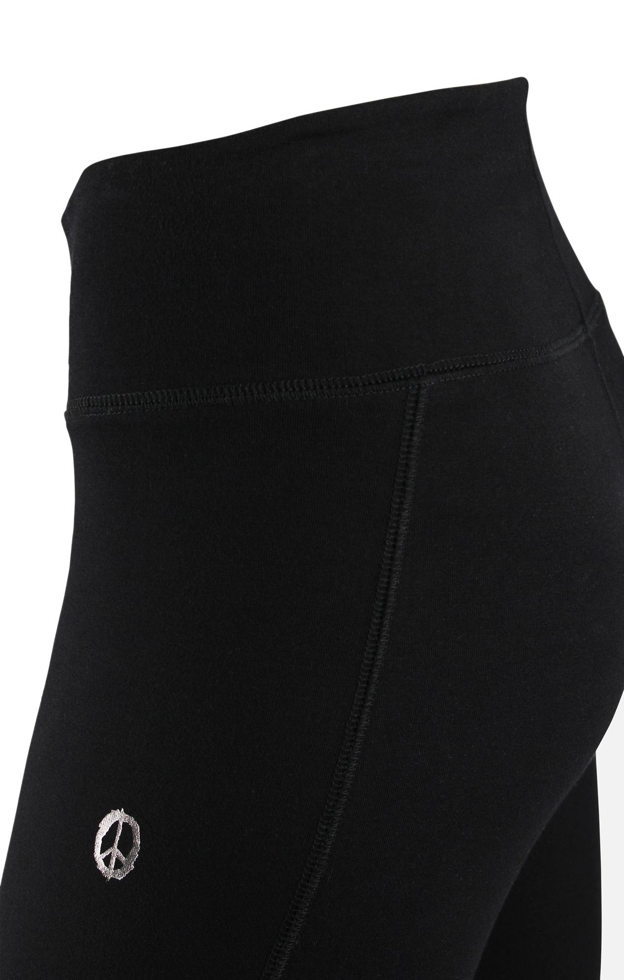 Basic-Leggings - schwarz