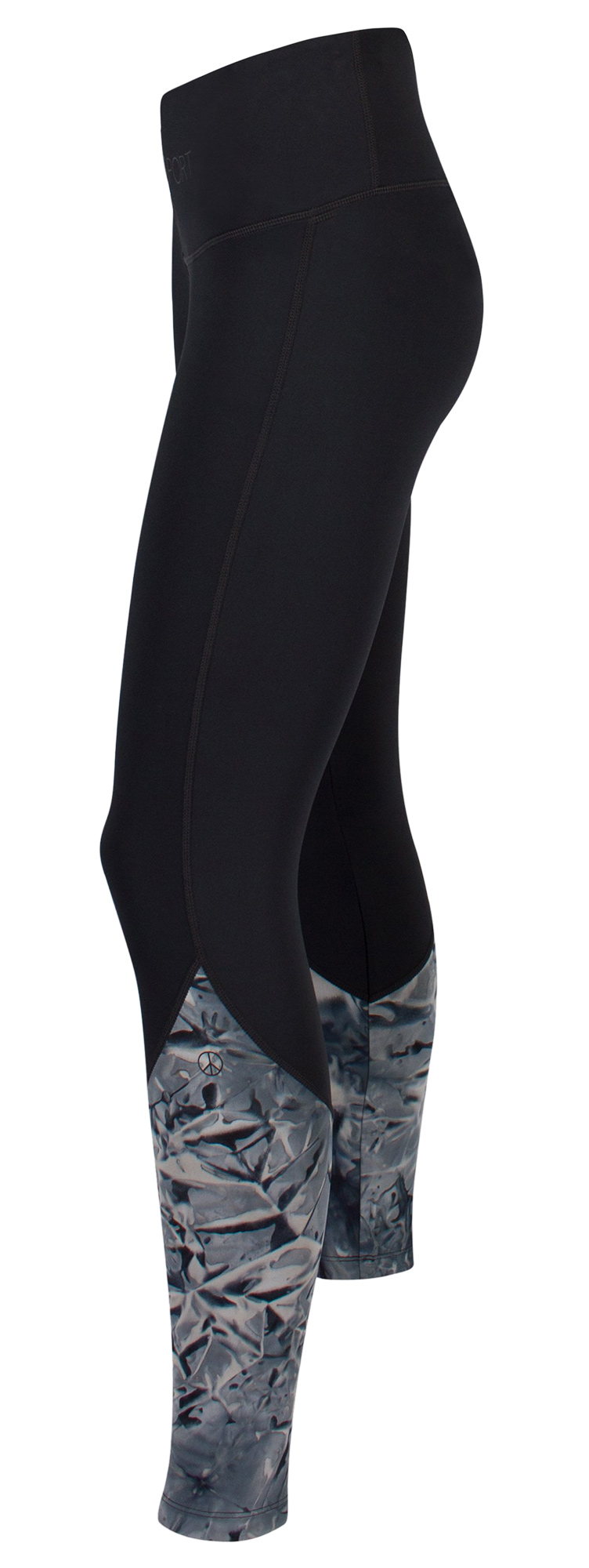 "Function-Leggings ""Colourblock tie dye"" - black/navy"