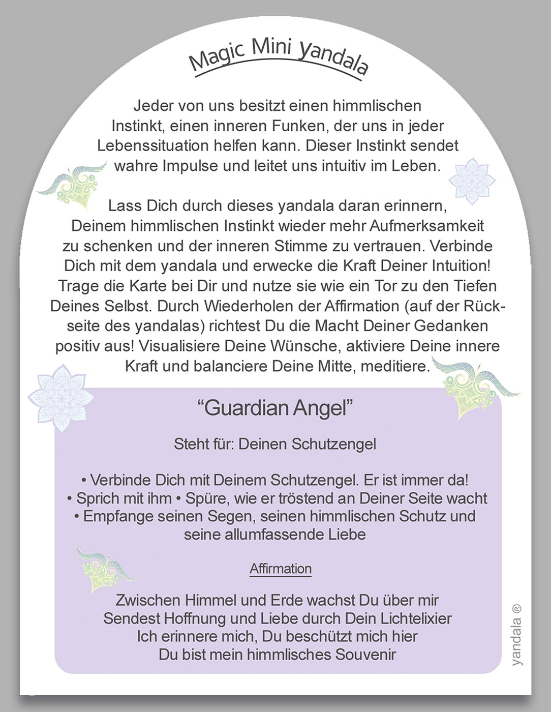 """Mini-Yandala - """"Guardian Angel"""""""