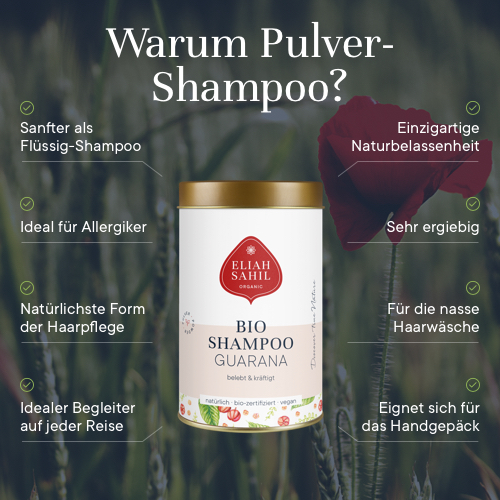 Bio Shampoo Powder - Citrus-Guarana, 100 g