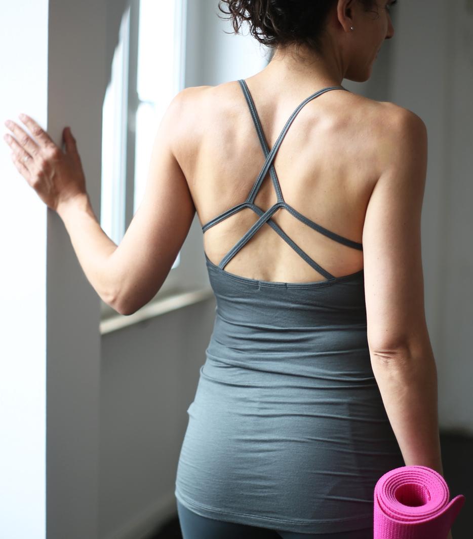 "Yoga-Tank ""Kali"", olive-pink"