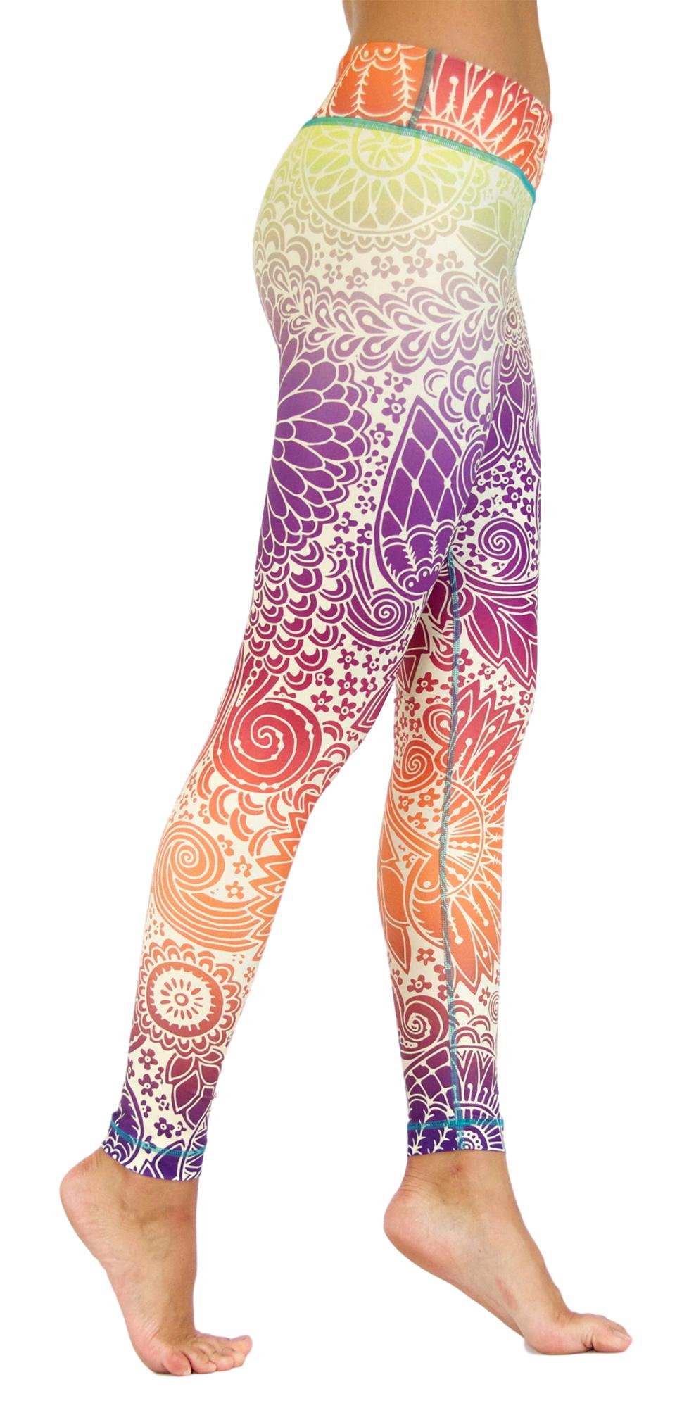 "Yoga Leggings ""Tender Tulips"""