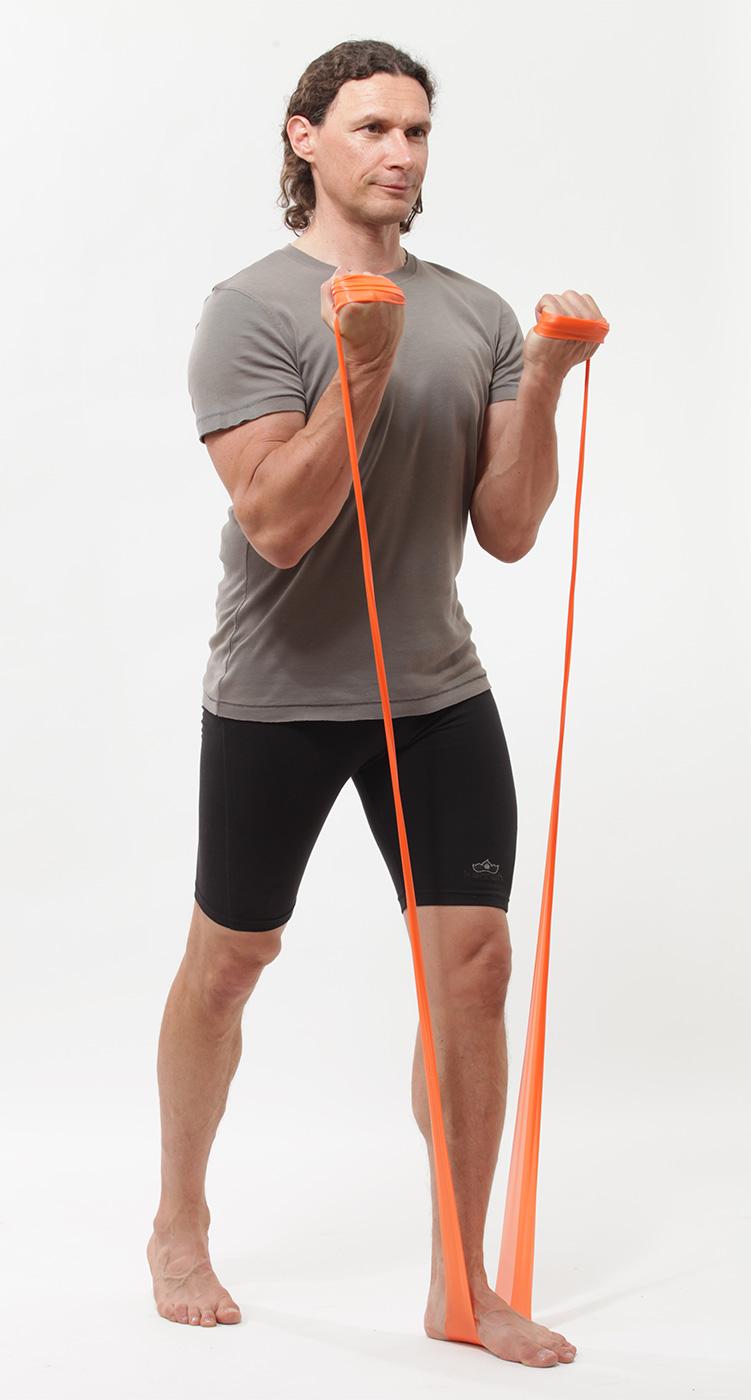 Pilates resistance band, latex-free - medium, green