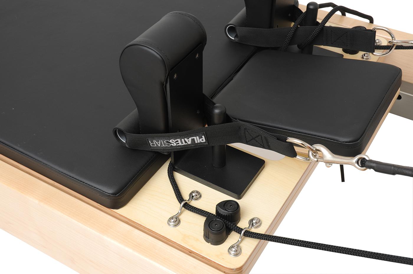 """Pilates Reformer Ahorn """"Short Leg"""" (inkl. Sitting Box und Jump Board) - schwarz"""