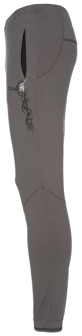 "Yoga-Pants men ""Sacred Tattoo"", grey"