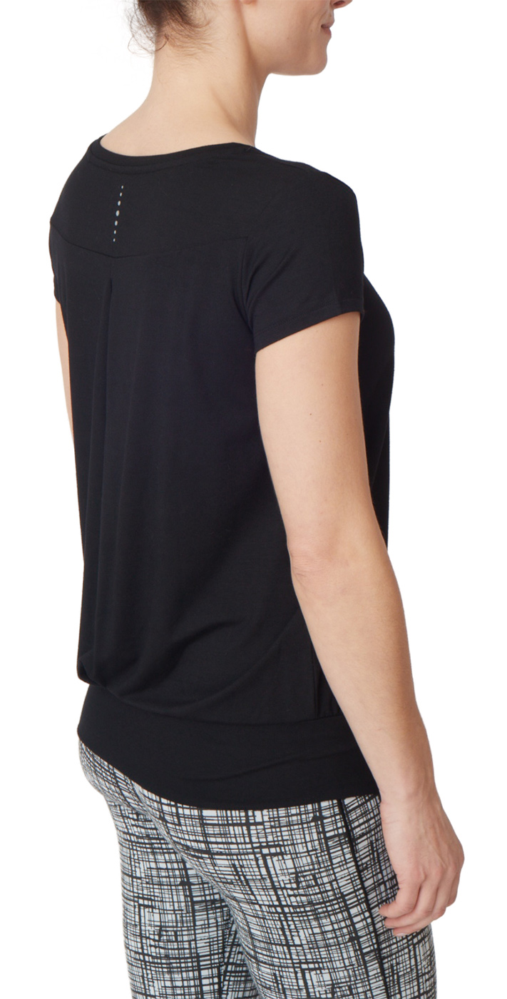 "Yogi-T-Shirt ""Smooth you"" - jet black"