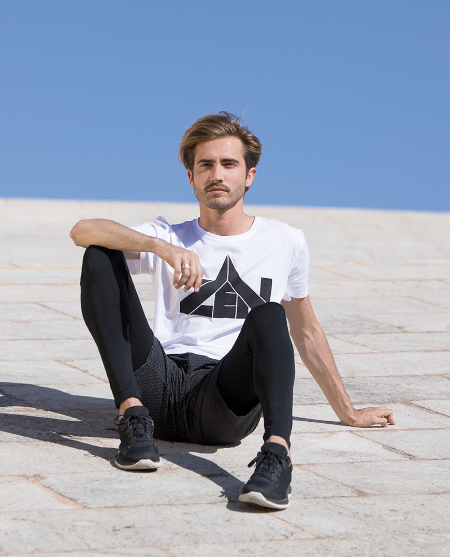 """Yoga T-Shirt """"Zen"""" - weiss"""