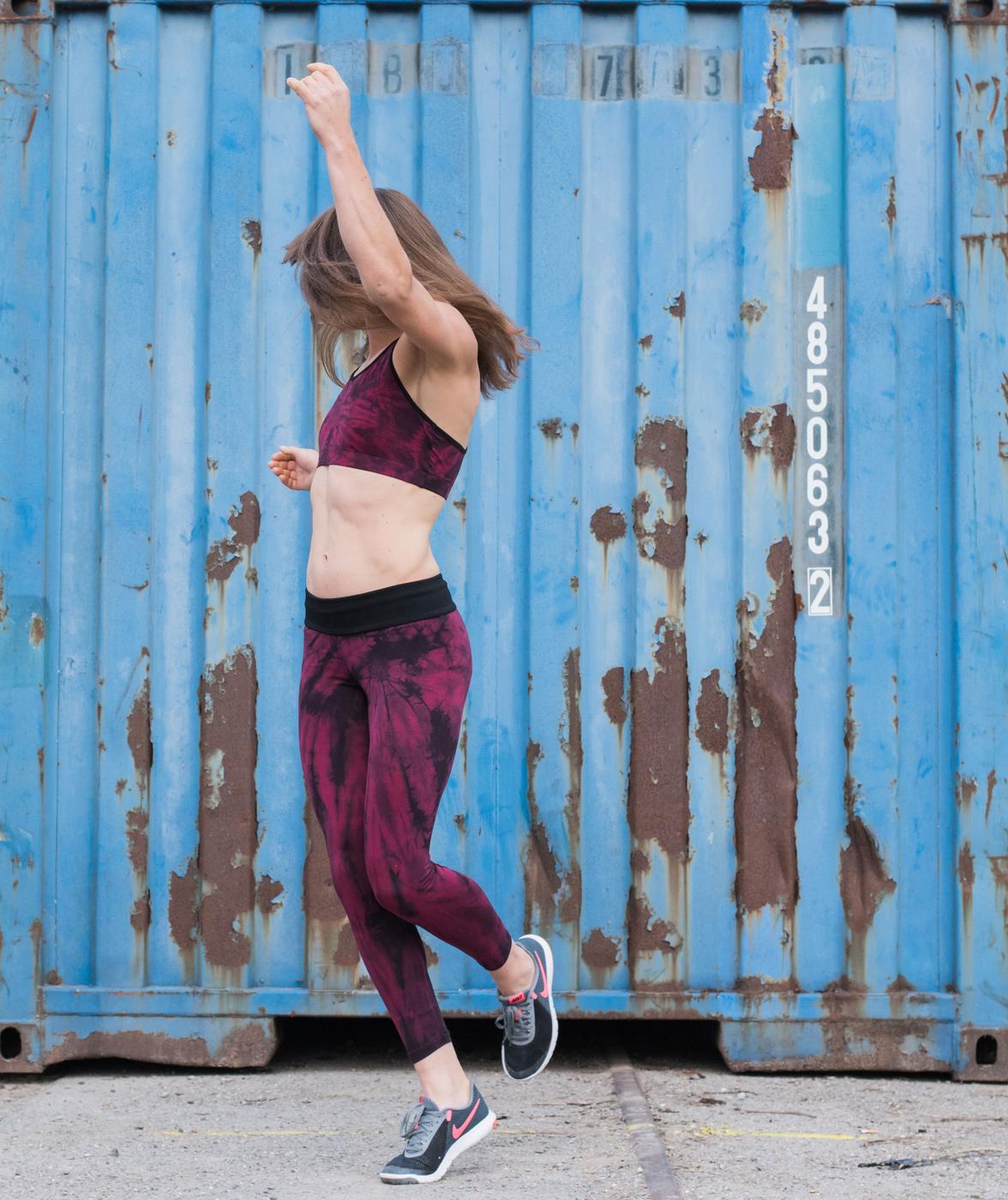 Yoga-Batik-Leggings long - batik bordeaux