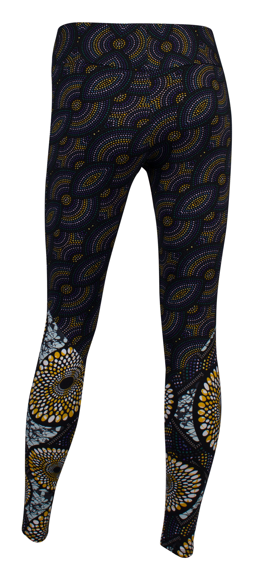 "Yoga-Leggings ""Madagaskar"" - blue/yellow"