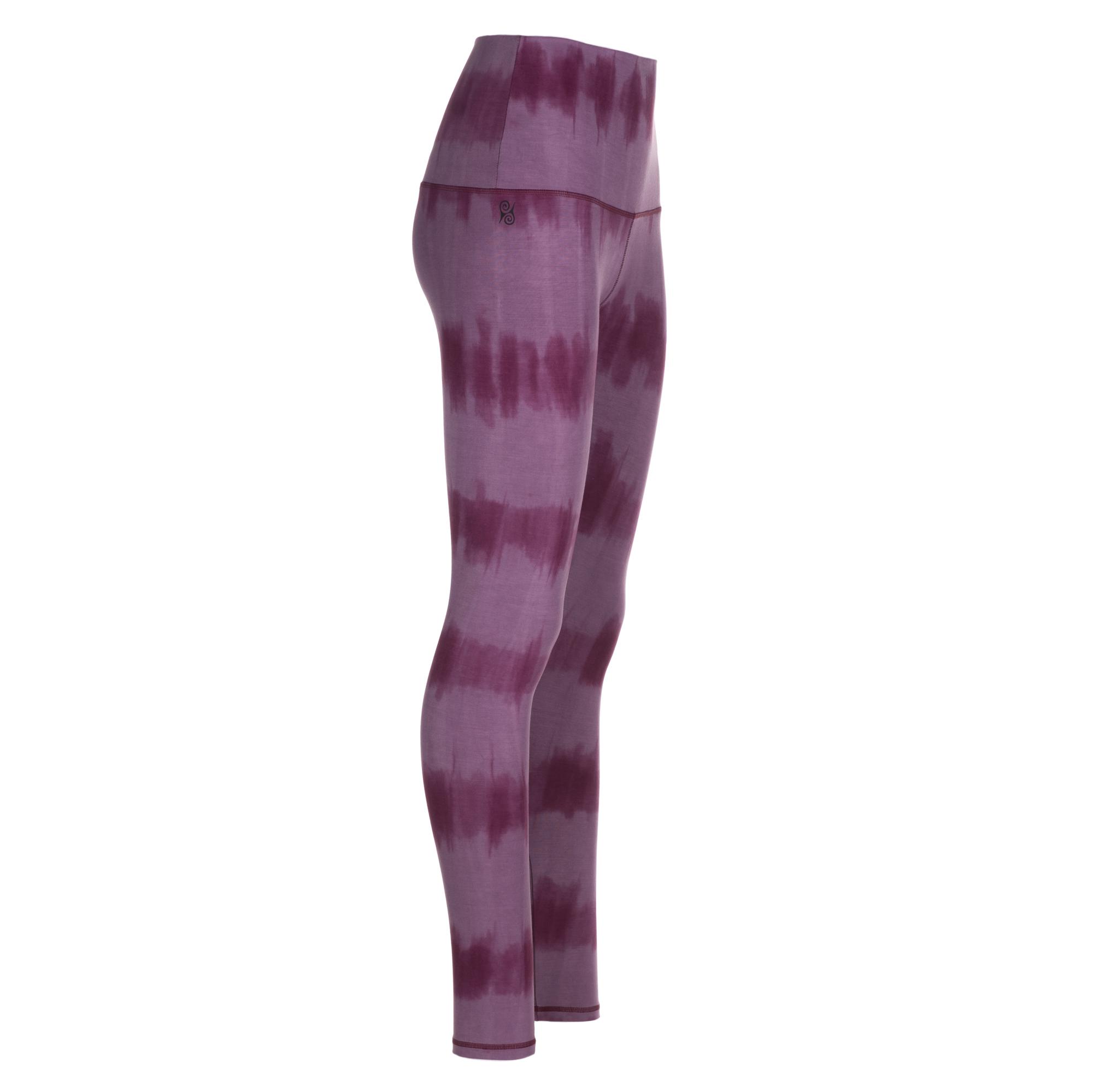 """Yoga-Batik-Leggings """"very berry"""" - rose/flieder"""