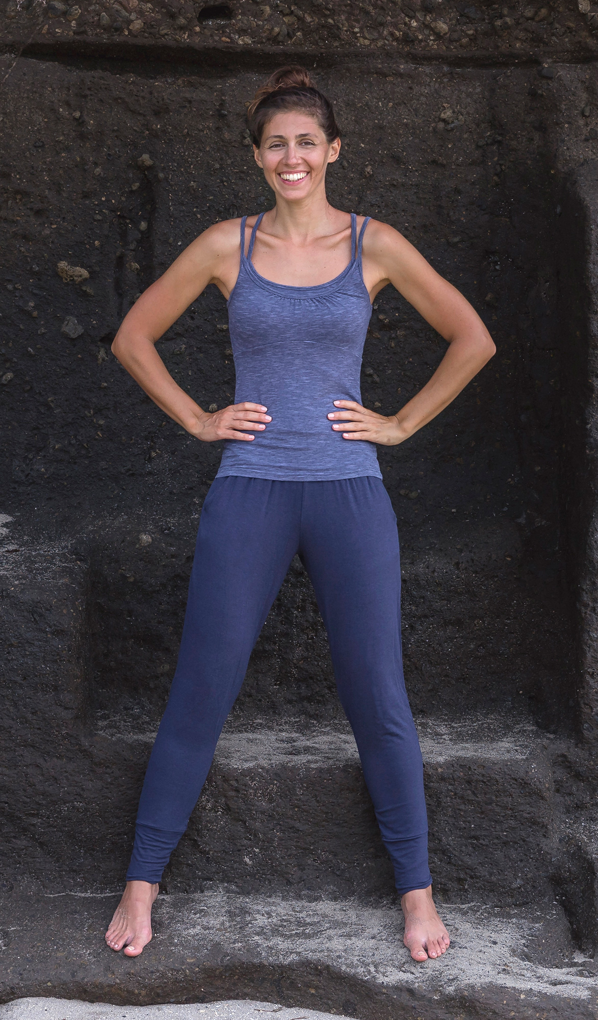 "Yoga-Pants ""Mari"" - nightblue"