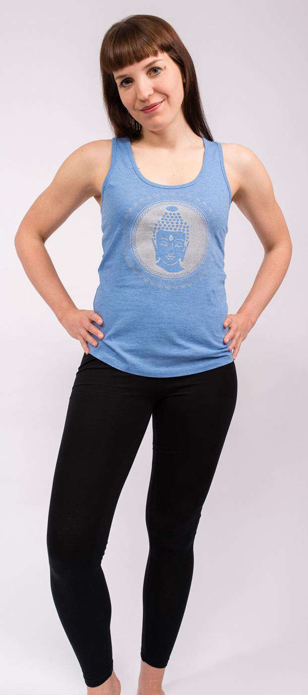 "Yoga Tank-Top ""Buddha"" - blue"