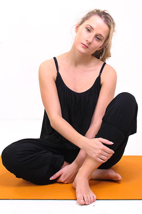 """Yoga-Top """"Comfort Flow"""" - black"""