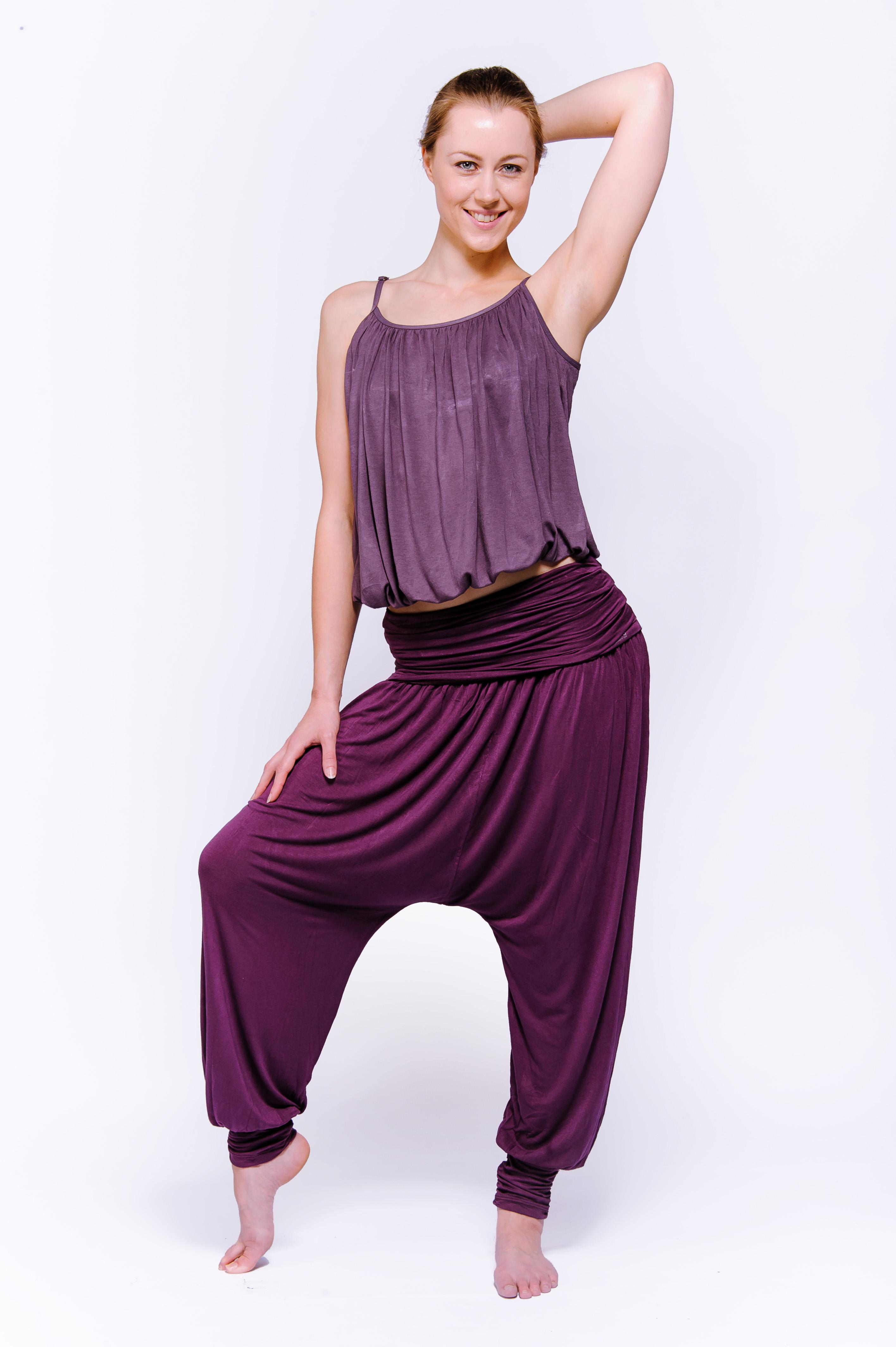 "Yogahose ""Flow"" - purple"