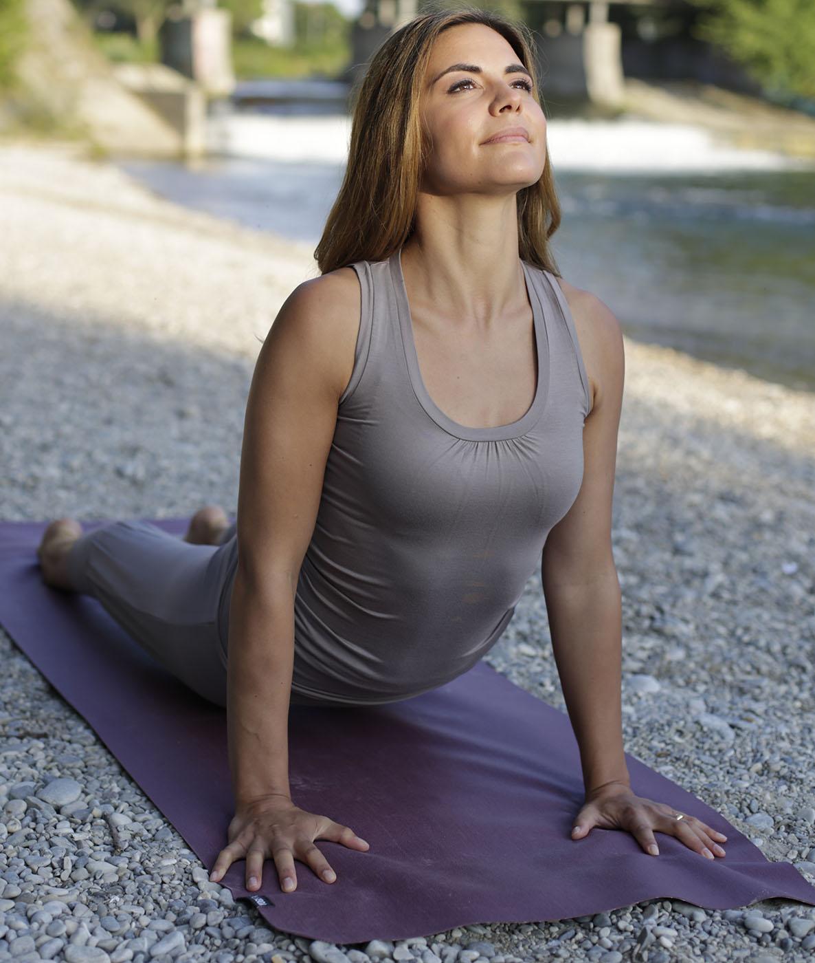 """Yoga-Tank-Top """"Bamboo"""" - taupe"""
