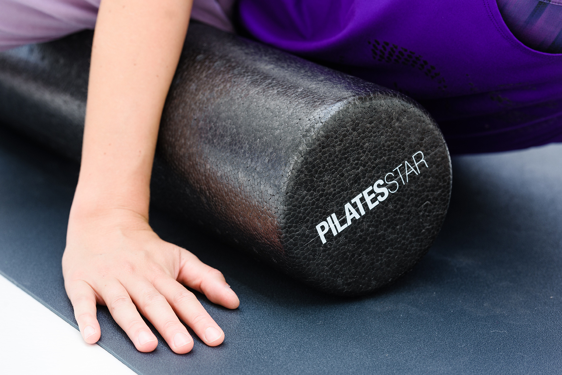 Rodillo para pilates - negro