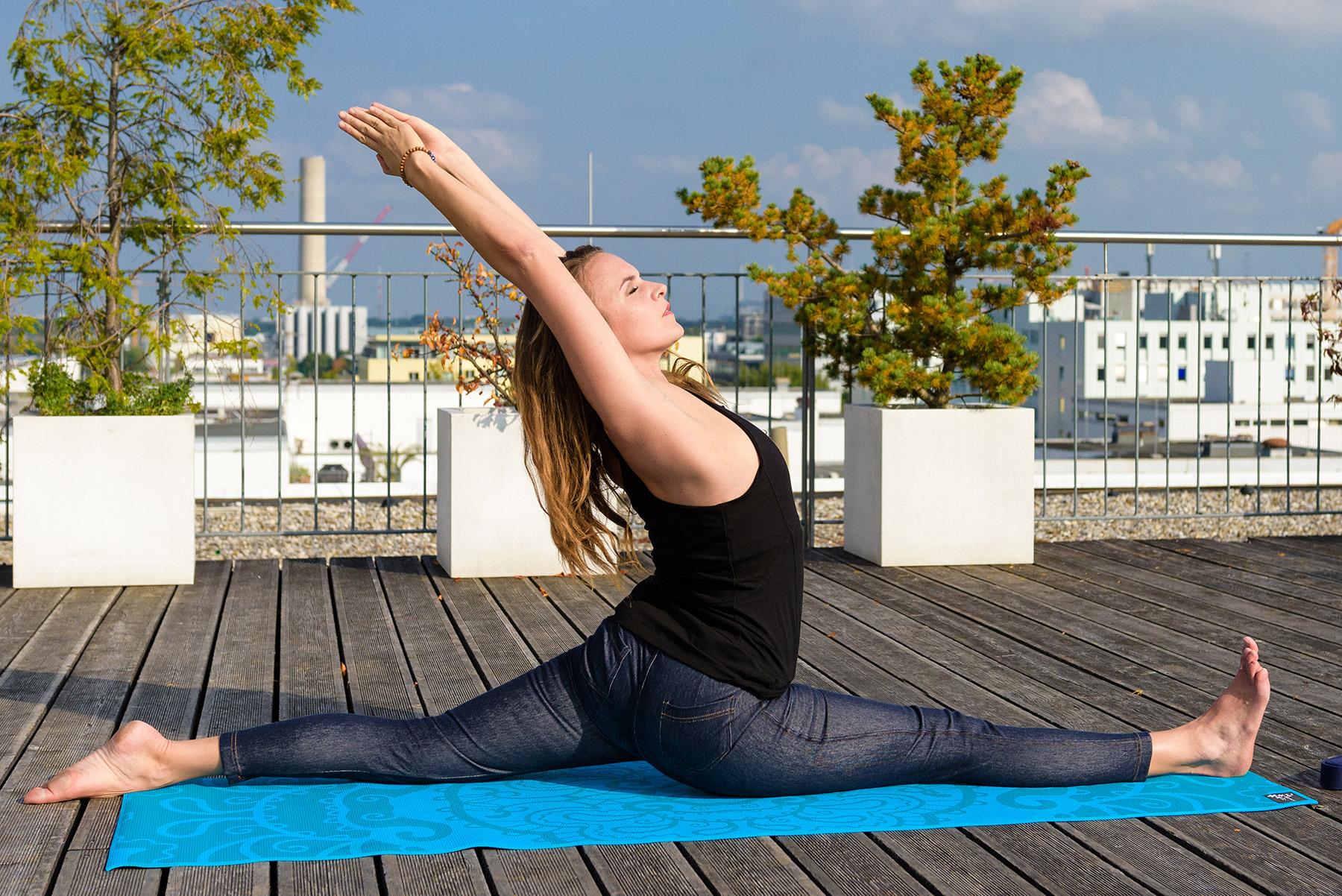 """Yoga-Hose """"Denim"""" - blue"""