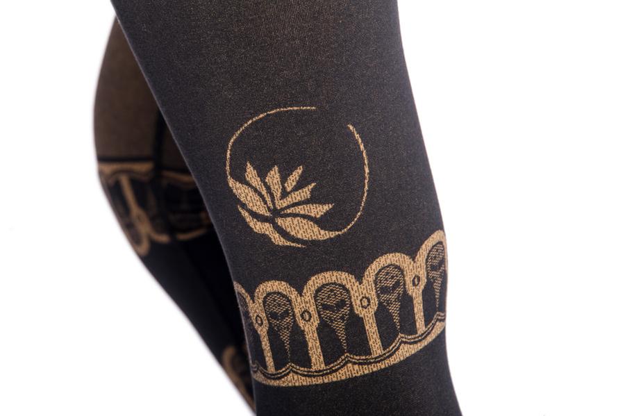 "Yoga-Leggings ""Bhakti"" - black/gold"
