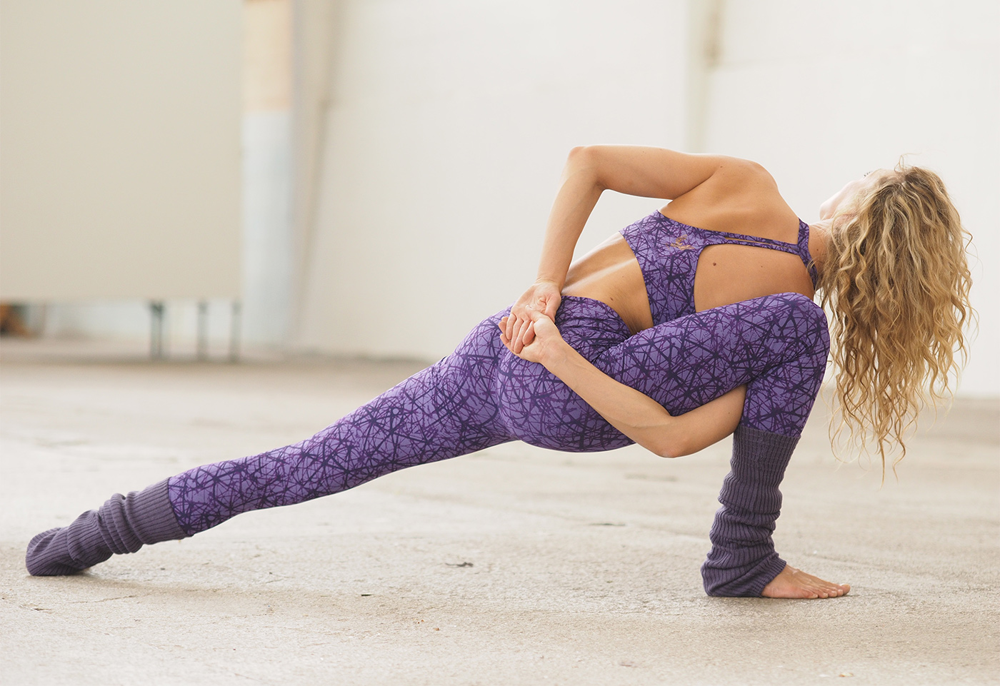 "Leggings ""Soma"", purple"