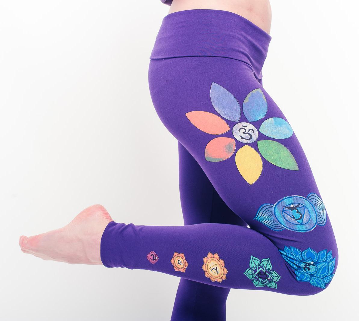 Organic Chakra Leggings - violet
