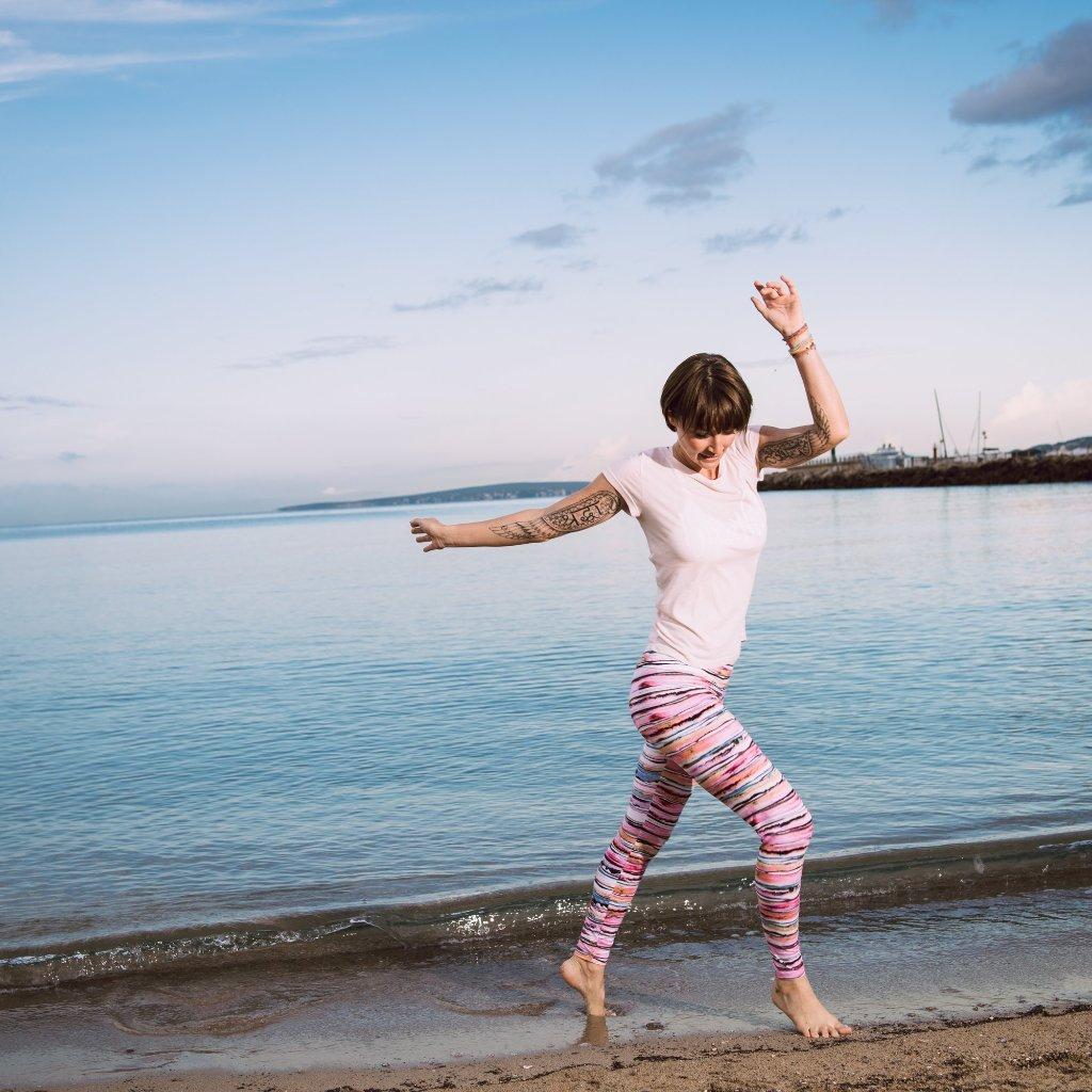 Yoga-Legging Aquarell