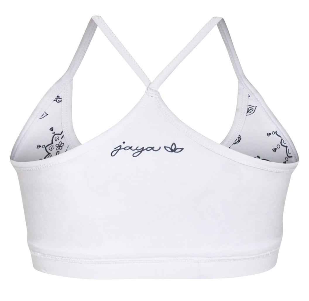 """Yoga-Bra """"Britney"""" paisley - white"""
