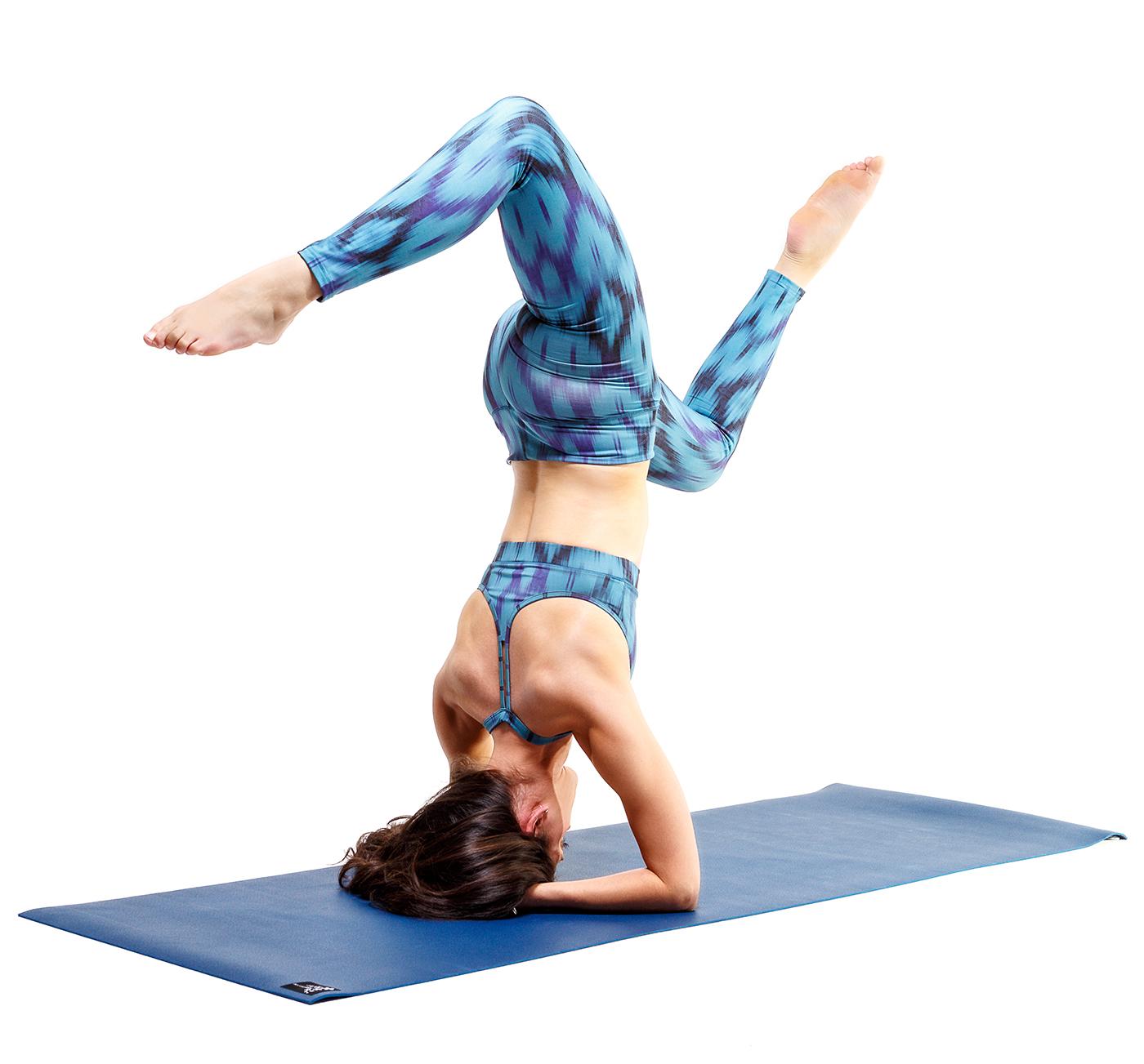 "Yoga-Bra ""Shiva"" - Ikat aqua"