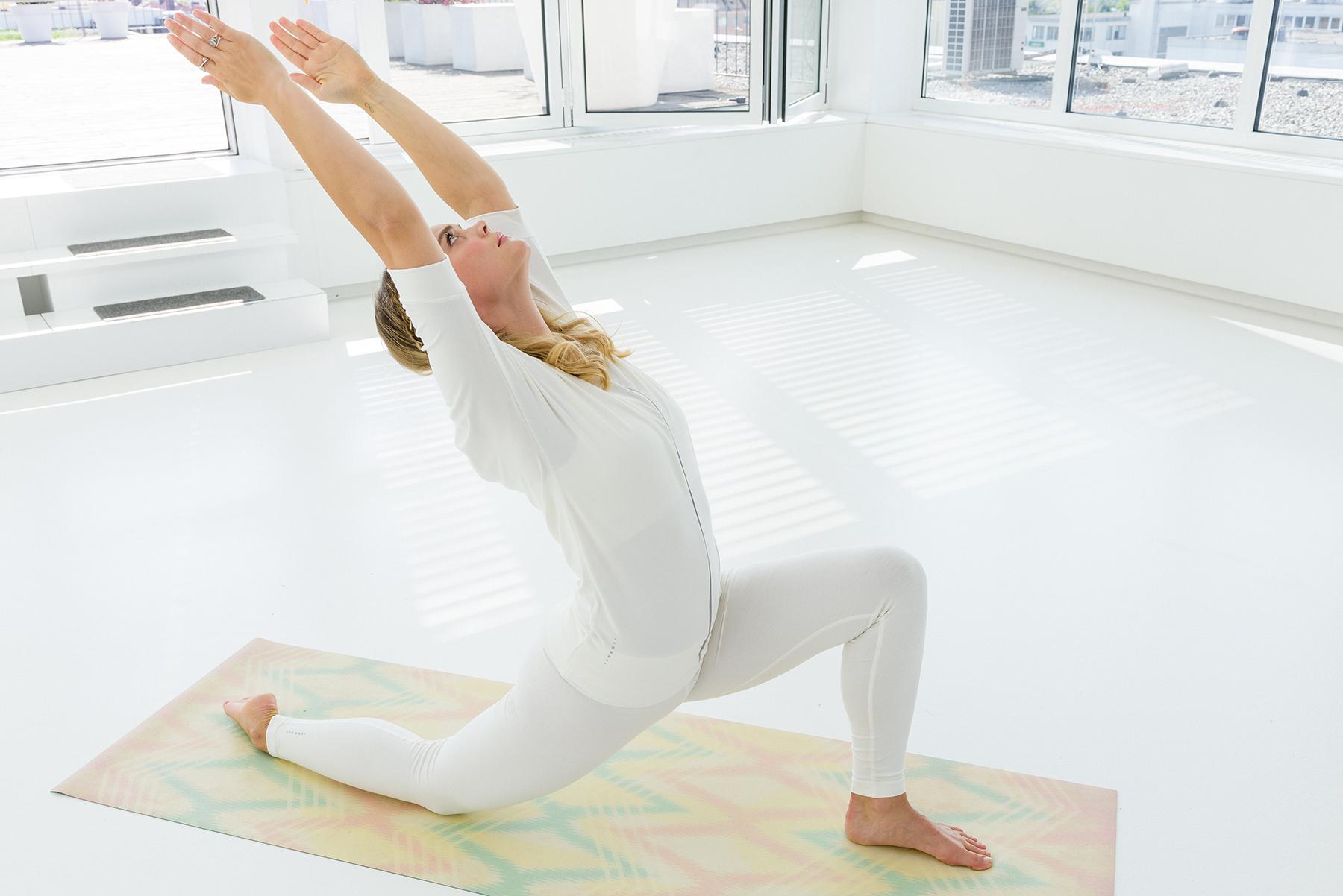 """Yoga-Shirt """"Batwing"""" - ivory"""