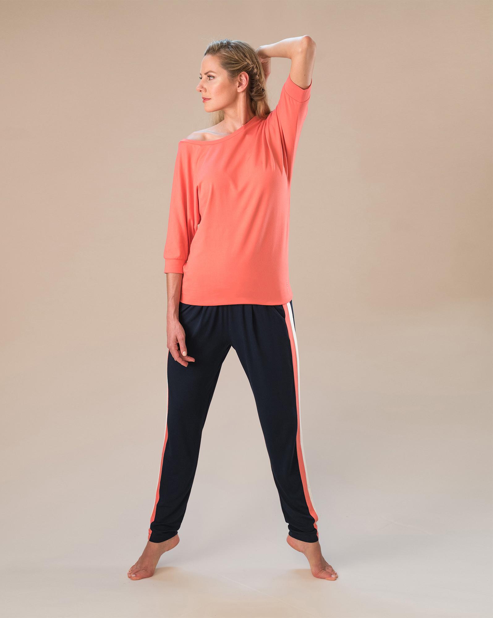 """Yoga-Shirt """"Batwing"""" - coral"""