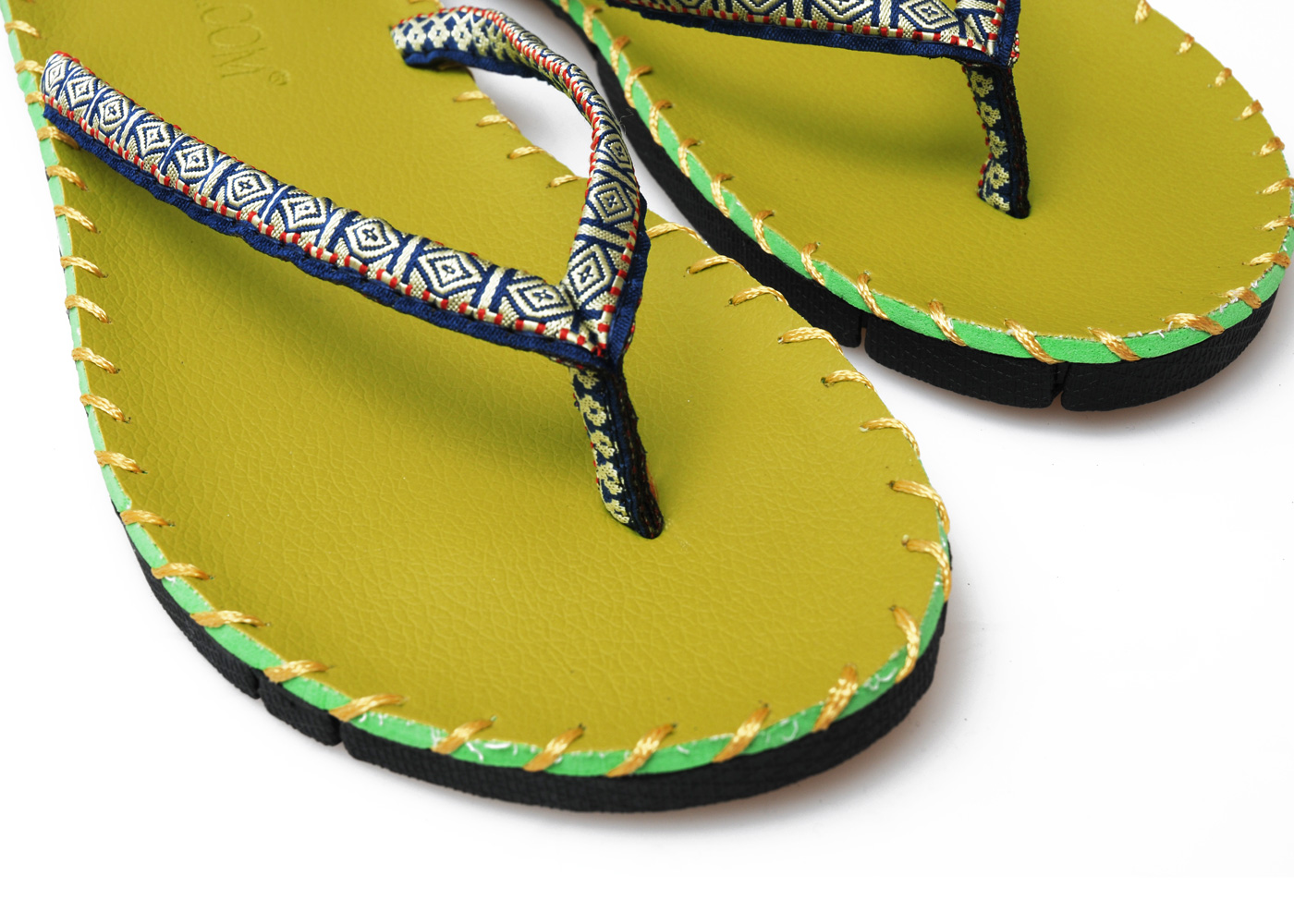 Yoga sandals - green
