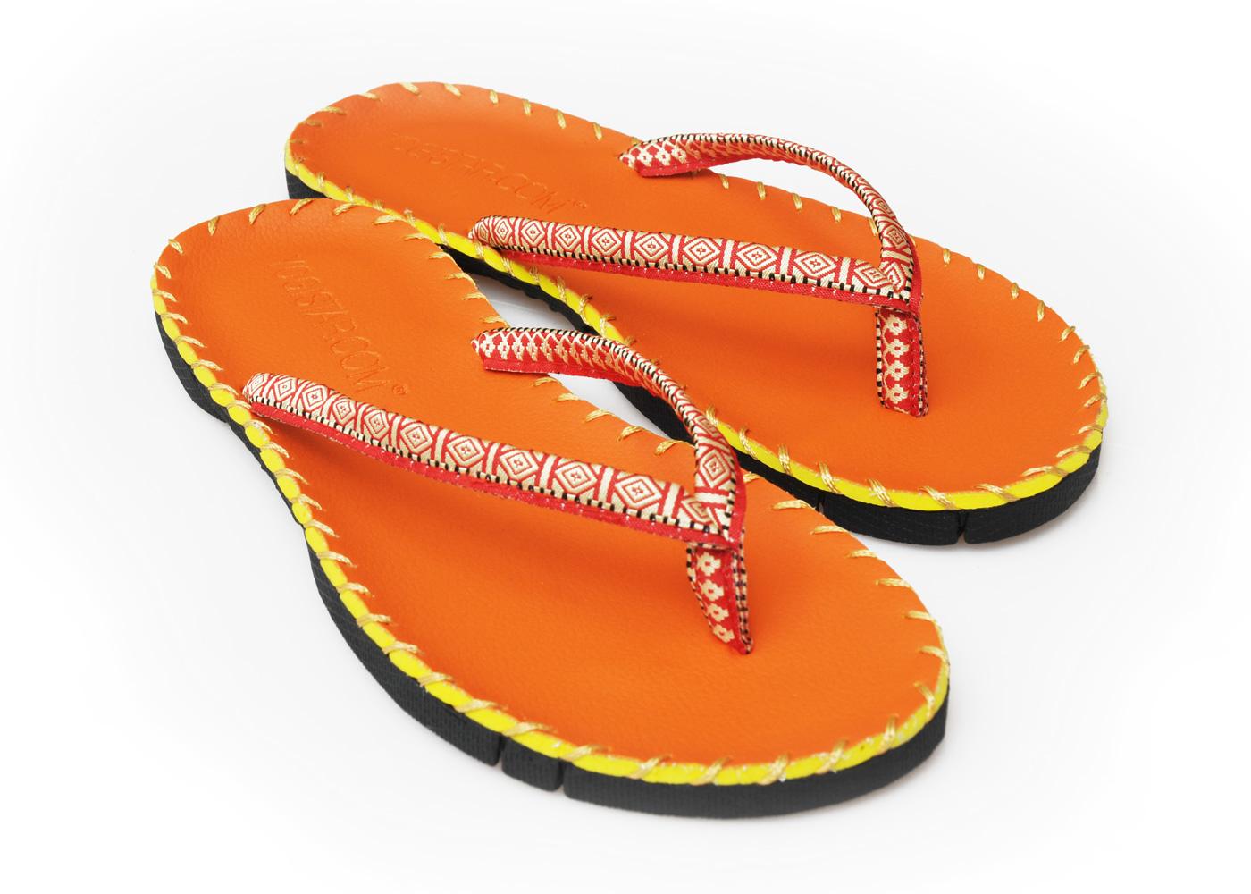 Yoga sandals - orange