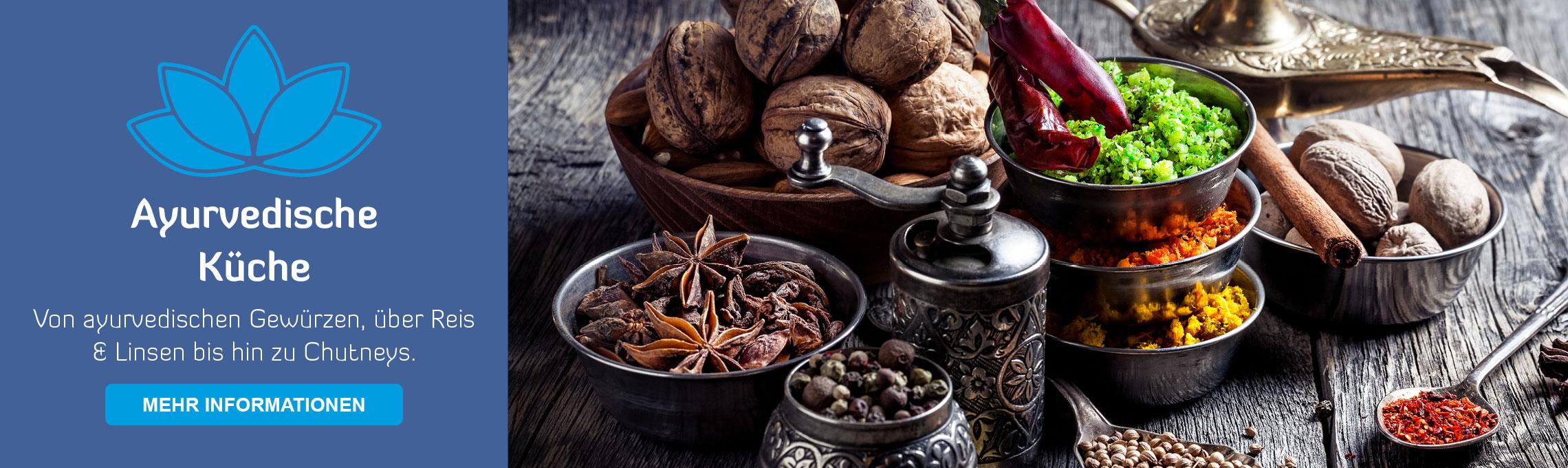 Startseite Teaser ayurvedische Küche